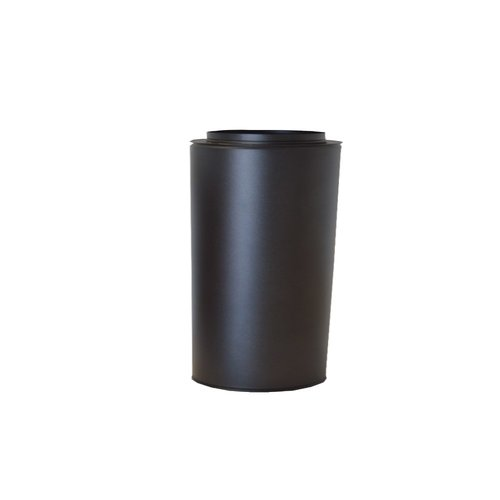 Tubo doble pared inox negro forja mate 25 cm