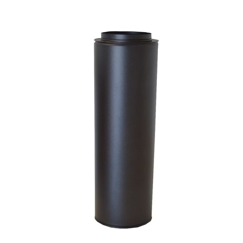 Tubo doble pared inox negro forjado mate de 50 cm