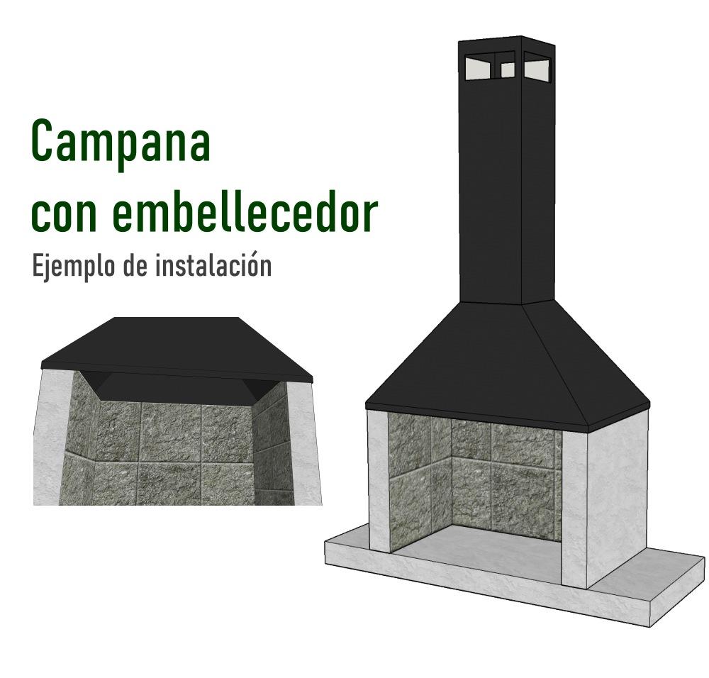 Ejemplo Instalacion campana con embellecedor