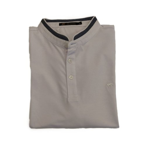 Polo cuello mao blanco